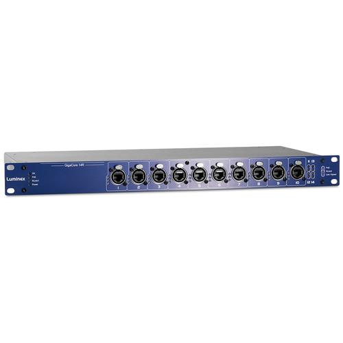 Luminex GigaCore 14R Gigabit Ethernet Switch with 160W PoE Supply (12 RJ45 Ports, 2 SFP Ports)