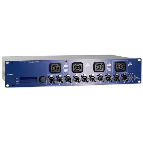 Luminex GigaCore 16RFO Pre-Configured 12-Port Ethernet Switch with Neutrik QUAD SMF and PoE