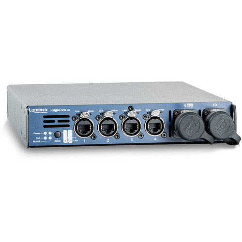 Luminex GigaCore 10 Pre-Configured 8-Port Ethernet Switch with Neutrik DUO SMF and PoE