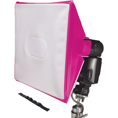 LumiQuest SoftBox III with UltraStrap (Neon Pink)
