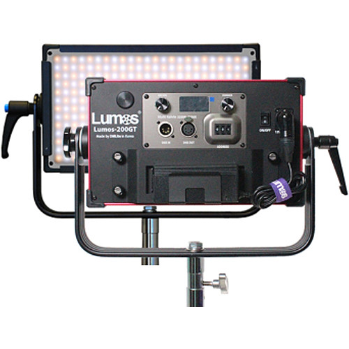 Lumos 200GT Tungsten-Balanced LED Fixture with IP65 Connector and AC Adapter