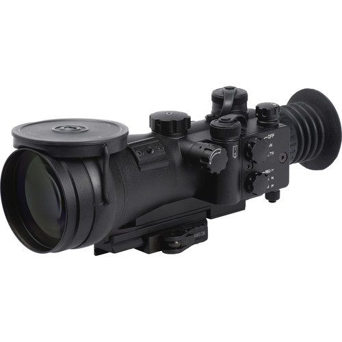 LUNA optics LN-SPRS-4-WP 4x72 3rd Generation Special Purpose NV Riflescope (Filmless White Phosphor, Matte Black)