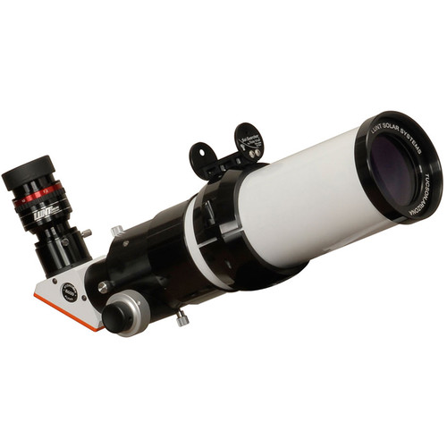 "Lunt Solar Systems 60mm f/8.3 Hydrogen-Alpha Single Etalon Refractor Solar Telescope (2"" Feather Touch Focuser, No Blocking, Tilt-Tuned)"