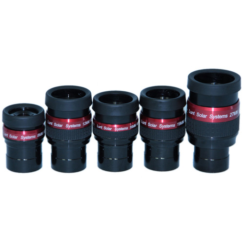 "Lunt Solar Systems Five-Piece Flat-Field Eyepiece Set (1.25"")"