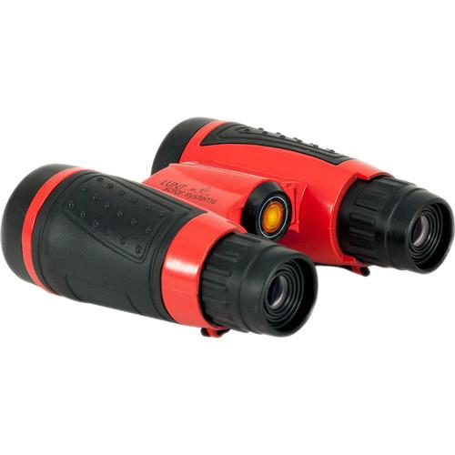 Lunt Solar Systems 6x30 White Light mini-SUNocular Binocular (Red, Clamshell Packaging)
