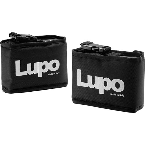 Lupo Bags for Dayled 2000 Batteries (Black, Two-Pack)