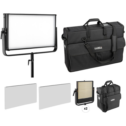 Luxli Taiko 2x1 and Timpani 1x1 RGBW LED 3-Light Kit