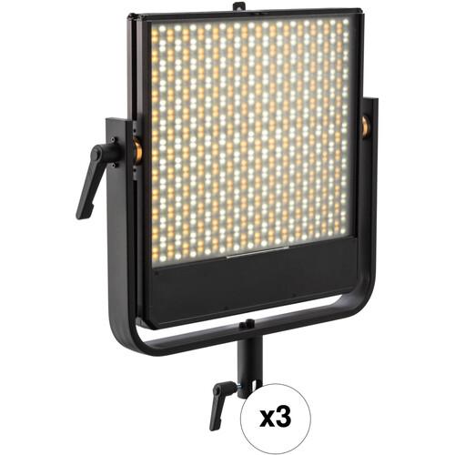 Luxli Timpani 1x1 RGBAW LED 3-Light Bundle