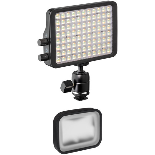 "Luxli Viola² 5"" On-Camera RGBAW LED Light Kit with Softbox & Diffusion Filter"