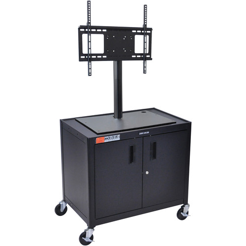 """Luxor AV30XLC-LCD Steel Mobile Cabinet Cart with Removable Flat Panel Mount for 42"""" Displays"""