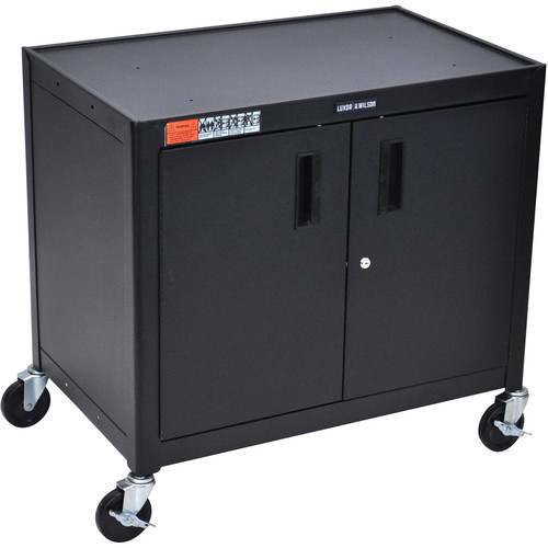 Luxor AV30XLC Steel Mobile Cabinet Cart