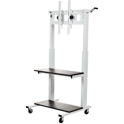 Luxor CLCD Crank-Adjustable Flat Panel TV Cart