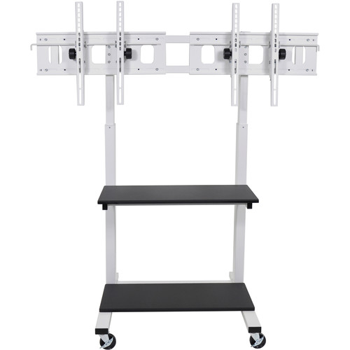 Luxor CLCD-Dual Crank Adjustable Flat Panel TV Cart
