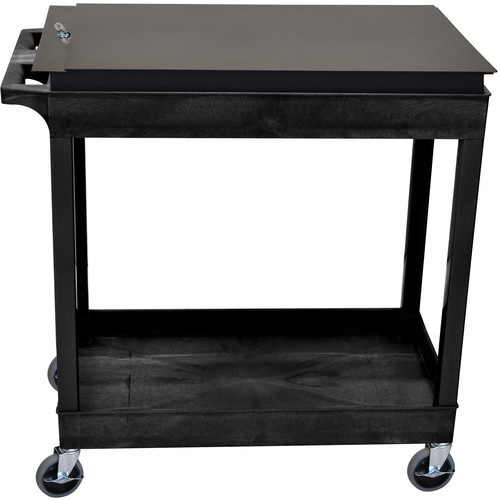 Luxor Two-Shelf Tub Cart with Locking Toolbox