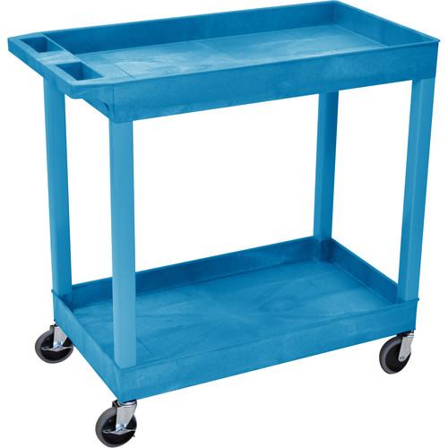 "Luxor 32 x 18"" Two-Shelf Utility Cart (Blue)"