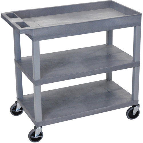Luxor EC122-G 18 x 35 Cart (Tub, 2-Shelf, Gray)