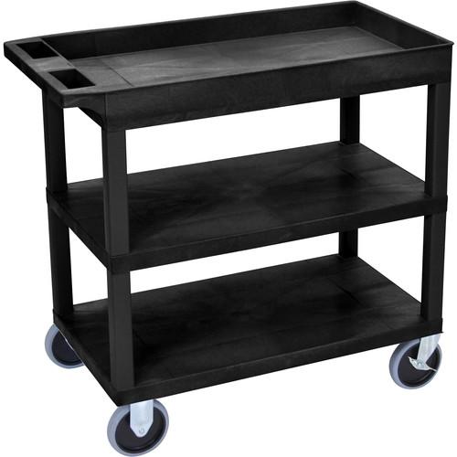 Luxor EC122HD-B 18 x 35 Cart (Tub, 2-Shelf, HD, Black)