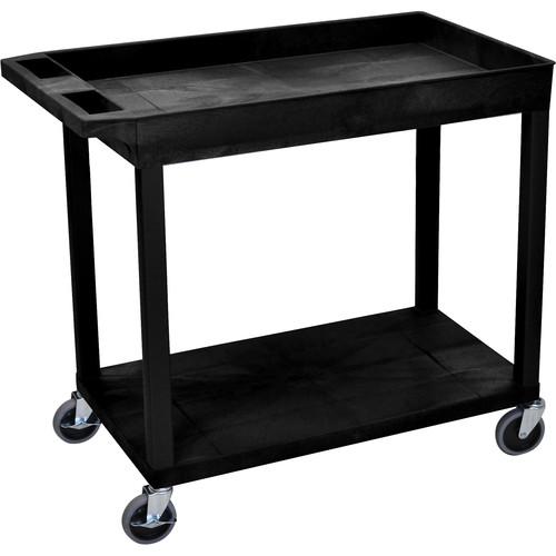 Luxor EC12-B 18 x 32 Cart (1 Tub, 1 Shelf, Black)