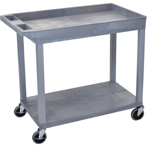 Luxor EC12-G 18 x 32 Cart (1 Tub, 1 Shelf, Grey)