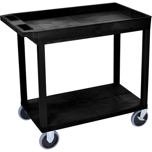 Luxor EC12HD-B 18 x 32 Cart (1 Tub, 1 Shelf, HD, Black)