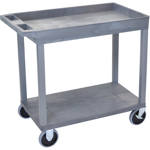 Luxor EC12HD-G 18 x 32 Cart (1 Tub, 1 Shelf, HD, Gray)