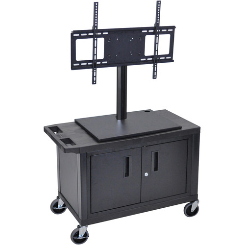 Luxor ET25CE-B Mobile Cart with Universal LCD TV Mount and Cabinet
