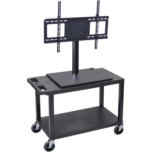 Luxor ET25E-B Mobile Cart with Universal LCD TV Mount and Shelf