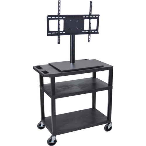 Luxor ET34E-B Mobile Cart with Universal LCD TV Mount and Two Shelves