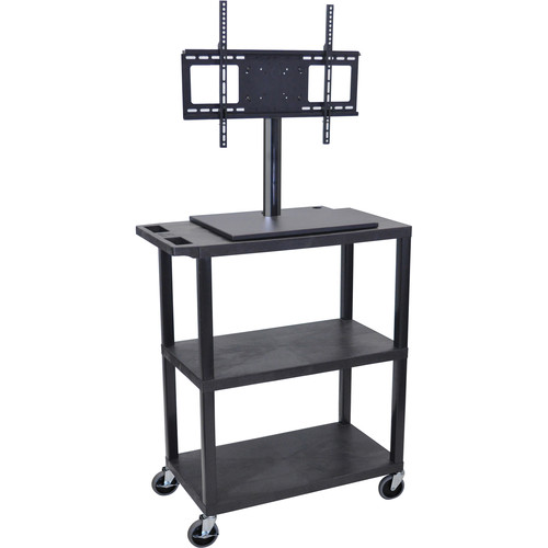Luxor ET38E-B Mobile Cart with Universal LCD TV Mount and Two Shelves