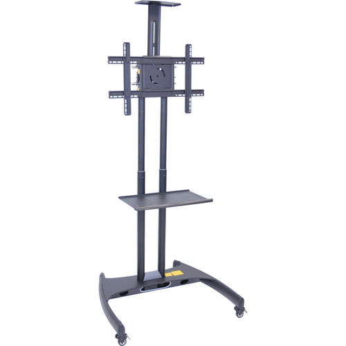 Luxor FP2750 Adjustable Height LCD TV Stand and Mount with Accessory Shelf and Camera Mount