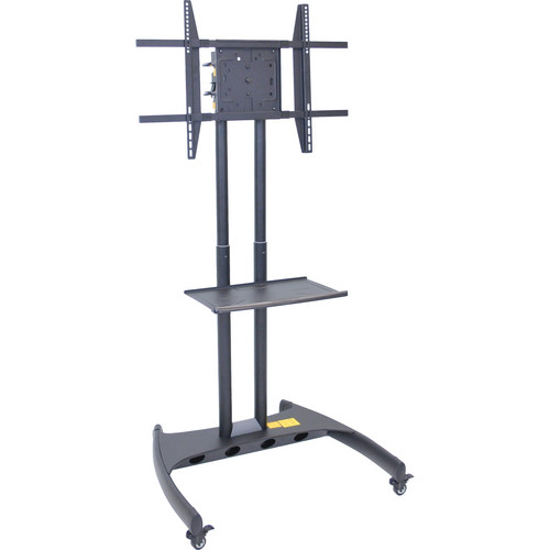 Luxor FP3500 Adjustable Height LCD TV Stand and Rotating Mount with Accessory Shelf