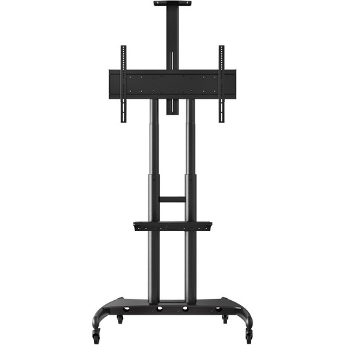 Luxor FP4000 Adjustable Height LCD TV Stand and Mount with Accessory Shelf and Camera Mount