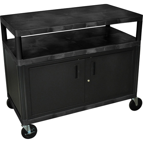 Luxor Industrial Cabinet Cart (Black)