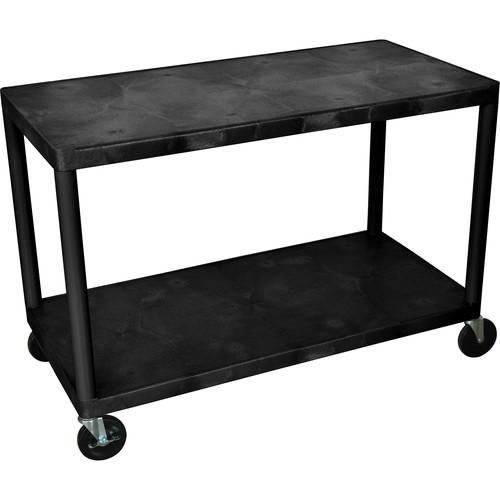 Luxor HEW385 2-Shelf Industrial Cart (Black)