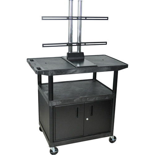 "Luxor Cabinet A/V Cart with Wide Top & Universal LCD Mount (40"" Tall)"