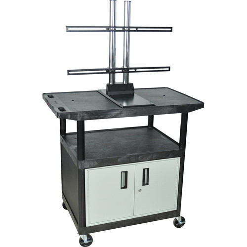 "Luxor 40"" A/V Wide Top Cart with LCD Mount, Cabinet, and Electrical Assembly"