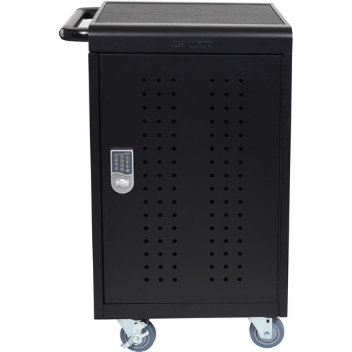 Luxor LLTM30-B-KP 30 Tablet/Chromebook Charging Rolling Cart with Keypad Lock