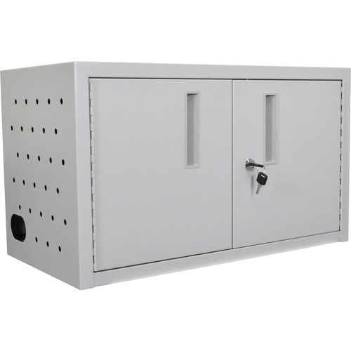 Luxor 16-Tablet Wall/Desk Charging Box (Gray)