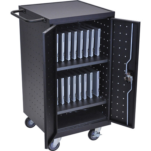 Luxor LLTP18-B 18 Tablet / Laptop Charging Cart
