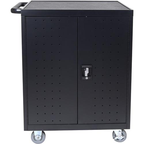 Luxor LLTP32-B - 32 Laptop/Chromebook Charging Cart with Timer (Black)