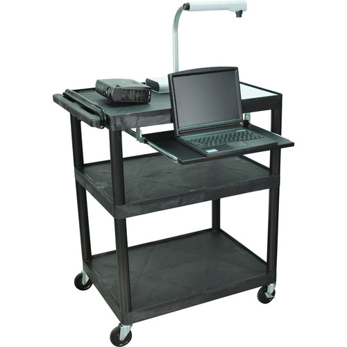 Luxor LP40LE 3-Shelf Presentation Cart