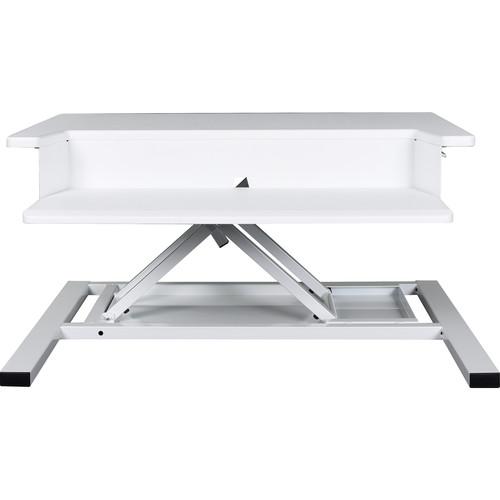 Luxor Level Up Pro 32 Pneumatic Adjustable Desktop Station (White)