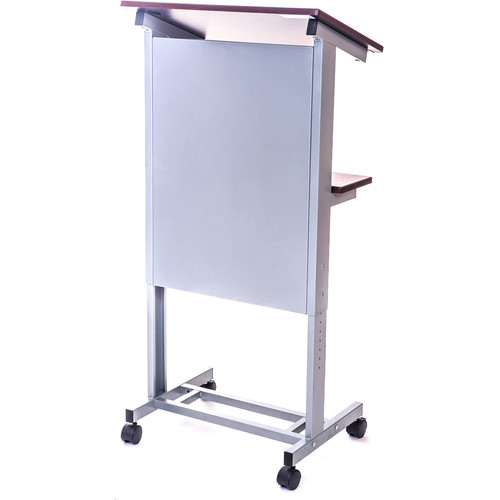 Luxor Rolling Adjustable Height Lectern Podium