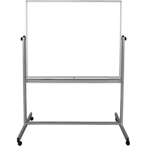 "Luxor MB4848WW Mobile Magnetic Reversible Whiteboard (48 x 48"")"