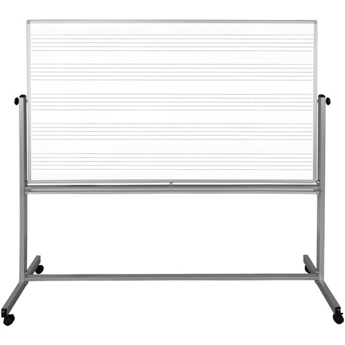 "Luxor 72 x 48"" Mobile Double-Sided Music / Whiteboard"