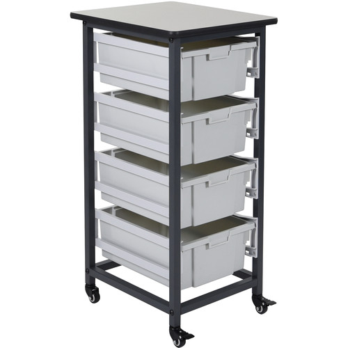 Luxor Single Row Mobile Bin Storage Unit (Large Bins)
