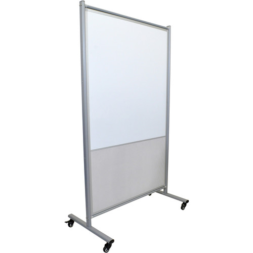 Luxor MD4072MW Mobile Magnetic Whiteboard Room Divider with Mesh