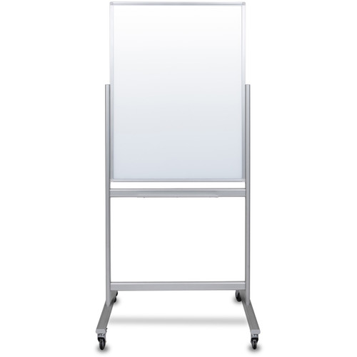 "Luxor Double-Sided Mobile Magnetic Glass Marker Board (28.5 x 38.25"")"