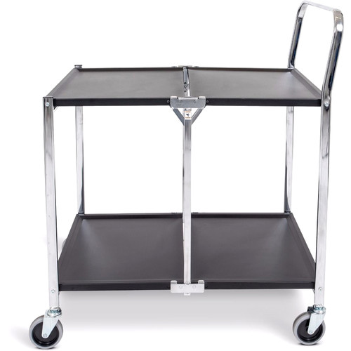 Luxor Two-Shelf Collapsible Metal Utility Cart