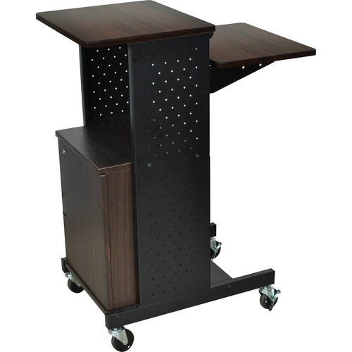 Luxor PS4000C Mobile Presentation Station with Cabinet (Walnut)